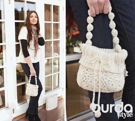 3d168824a9aa Маленькая дамская сумочка - схема вязания крючком. Вяжем Сумки на Verena.ru