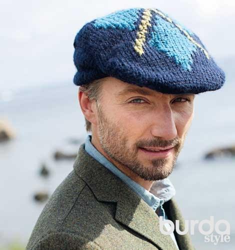 шотландская кепка схема вязания спицами вяжем кепки на Verenaru