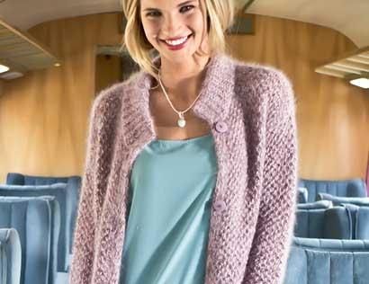 Короткое пальто - схема вязания спицами. Вяжем Пальто на Verena.ru