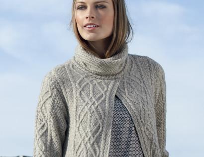 Пальто с высоким воротом - схема вязания спицами. Вяжем Пальто на Verena.ru