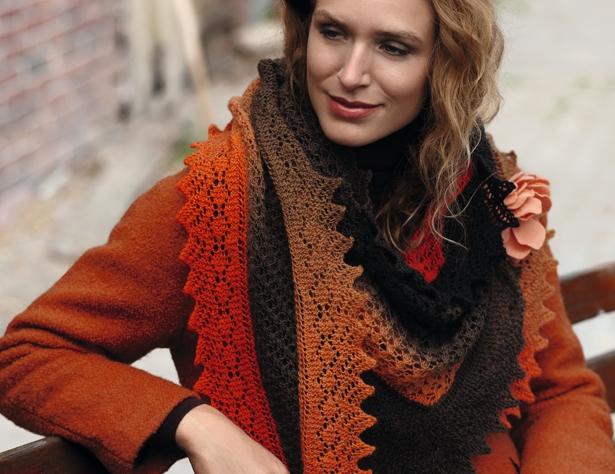 Асимметричный ажурный платок-косынка - схема вязания спицами. Вяжем Косынки на Verena.ru
