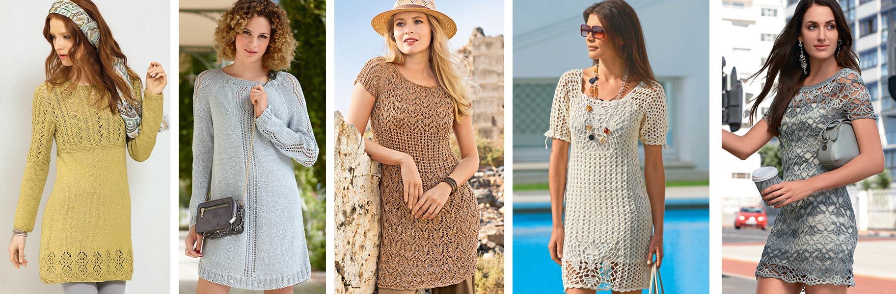 26ea4319ca2e8b8 Для теплой и жаркой прекрасно подойдут ажурные мини-платья, связанные  крючком или на спицах.