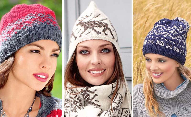 Узоры спицами для шапок: вязание по примеру схем