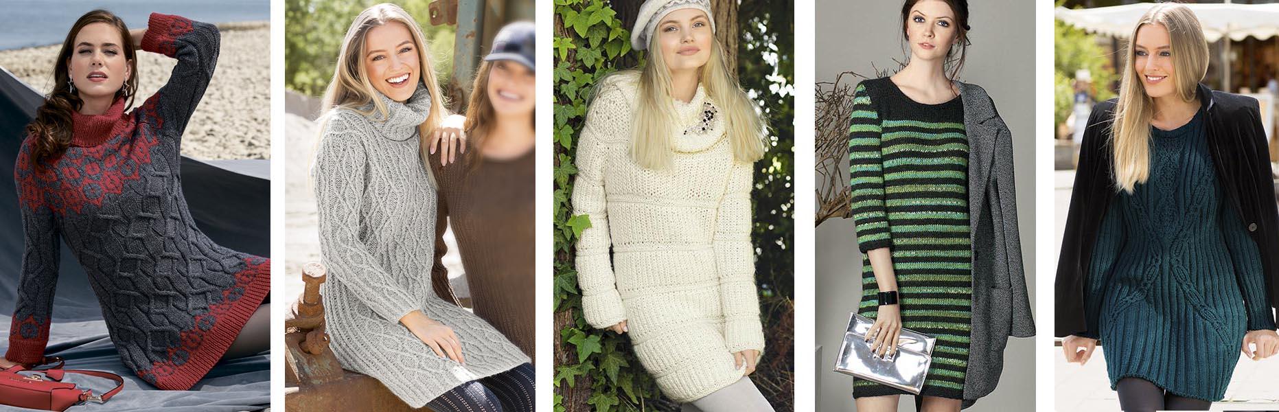 8478c4878335186 Для конца зимы и ранней весны будут актуальны теплые короткие платья-свитеры,  которые можно носить с узкими джинсами или с леггинсами.