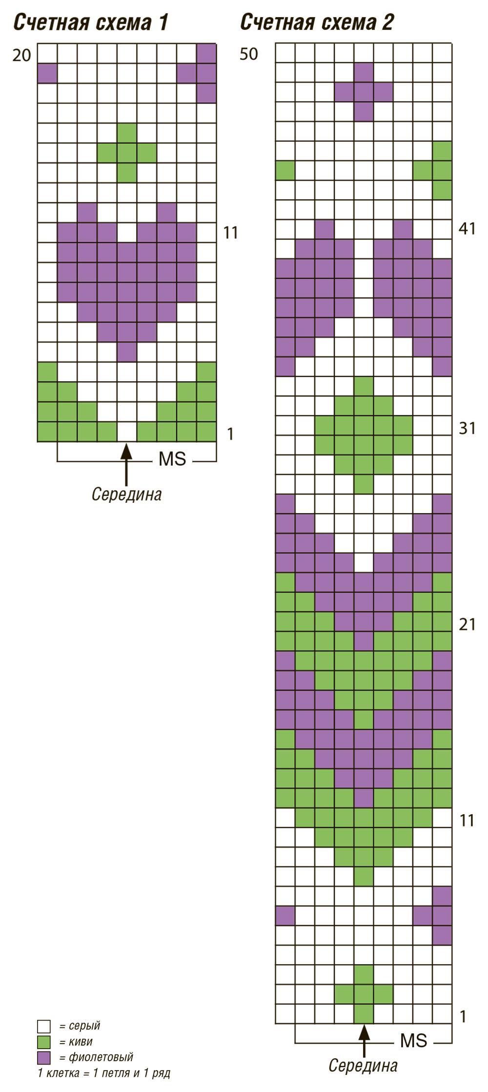 схемы жаккардовых узоров для подушек вязанных крючком