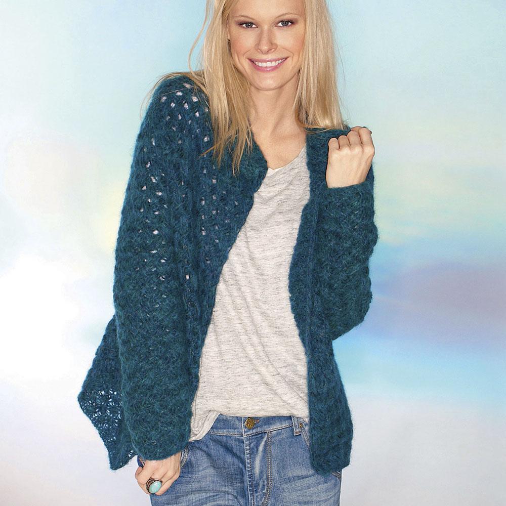 пуловер женский схема спицами 240 100 гр