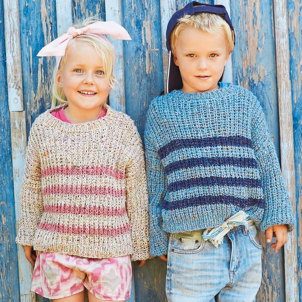 Джемперы в резинку для мальчика и девочки