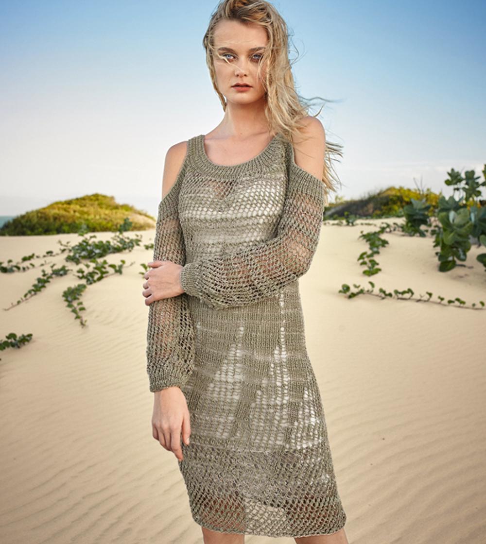 Платье с узором «Сетка»