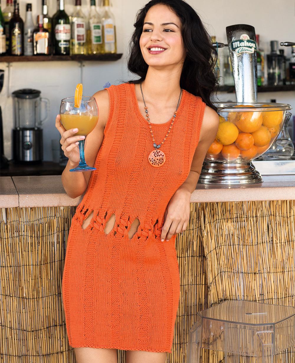 Мини-платье с узлами на талии