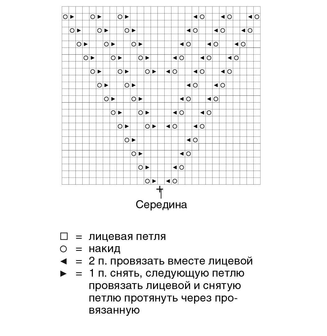 Топ с ажурным треугольным мотивом
