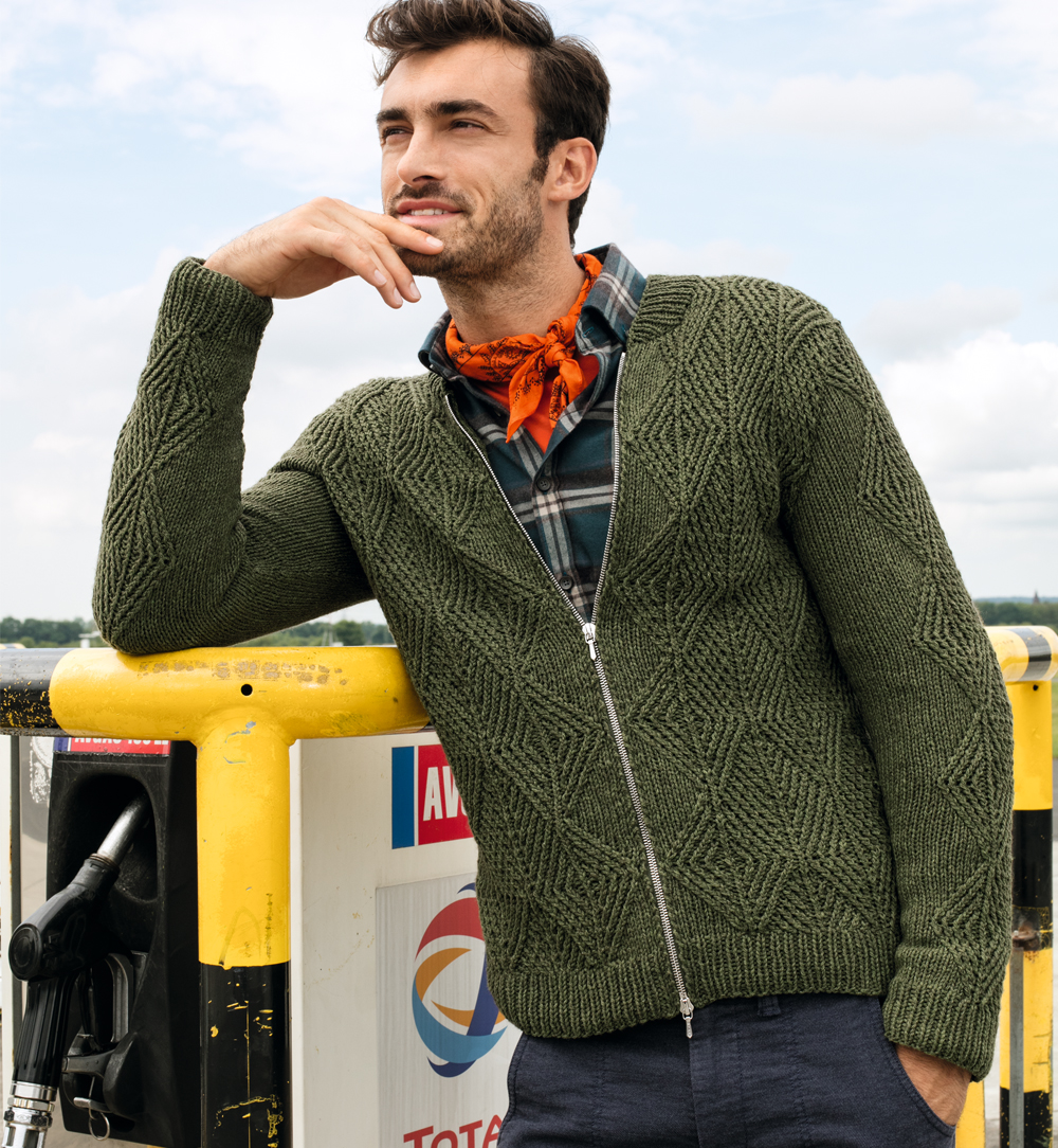 мужская кофта цвета хаки схема вязания спицами вяжем кофты на