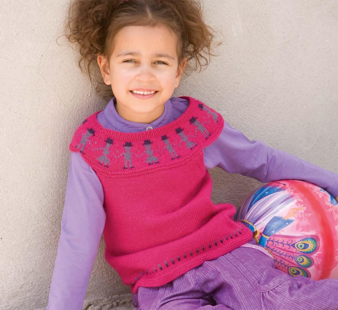 h схему вязания спицами жилетки для девочки