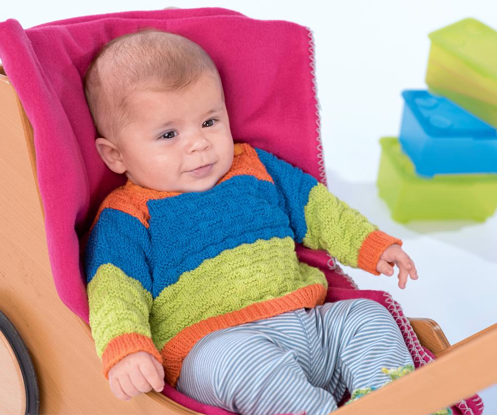 Трехцветный джемпер для малыша