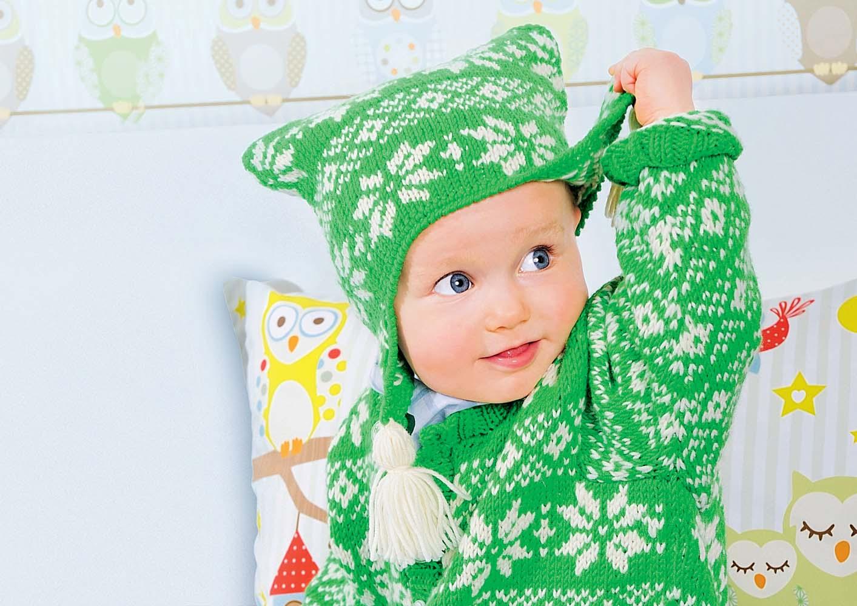 шапка с маленькими ушками схема вязания