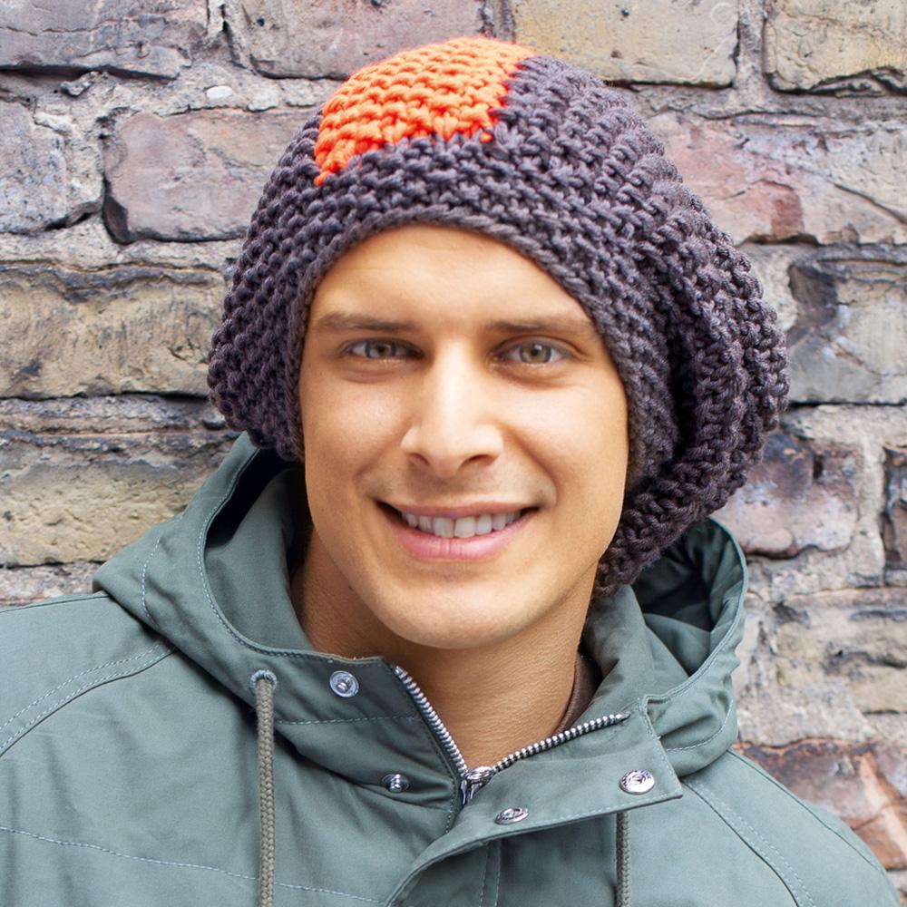 схемы вязания мужских шапочек с косами спицами