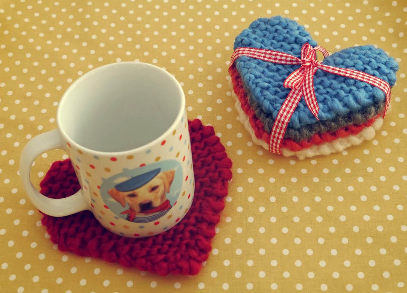 Салфетки под чашек вязание