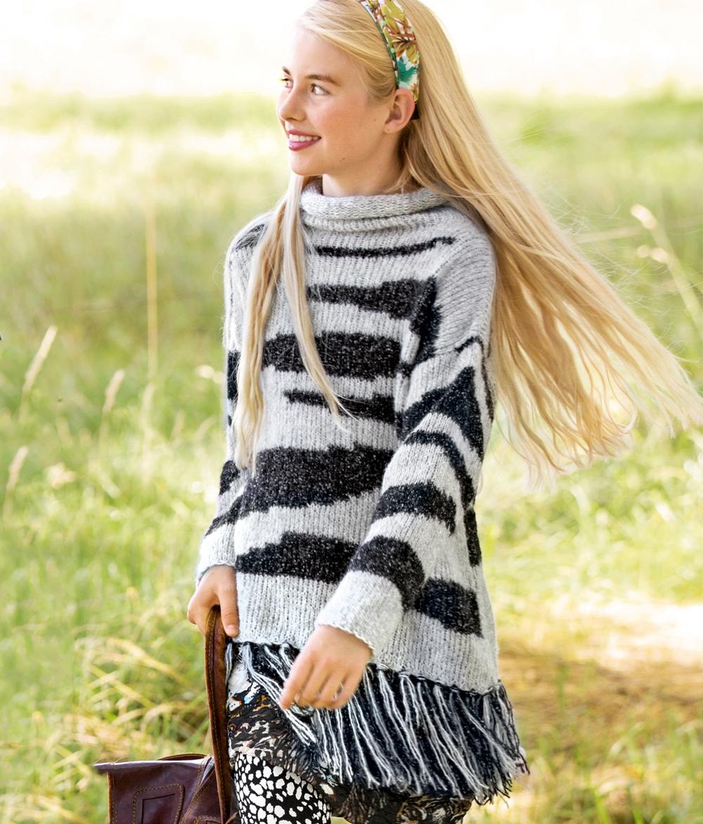 свитер с длинной бахромой схема вязания спицами вяжем свитеры на