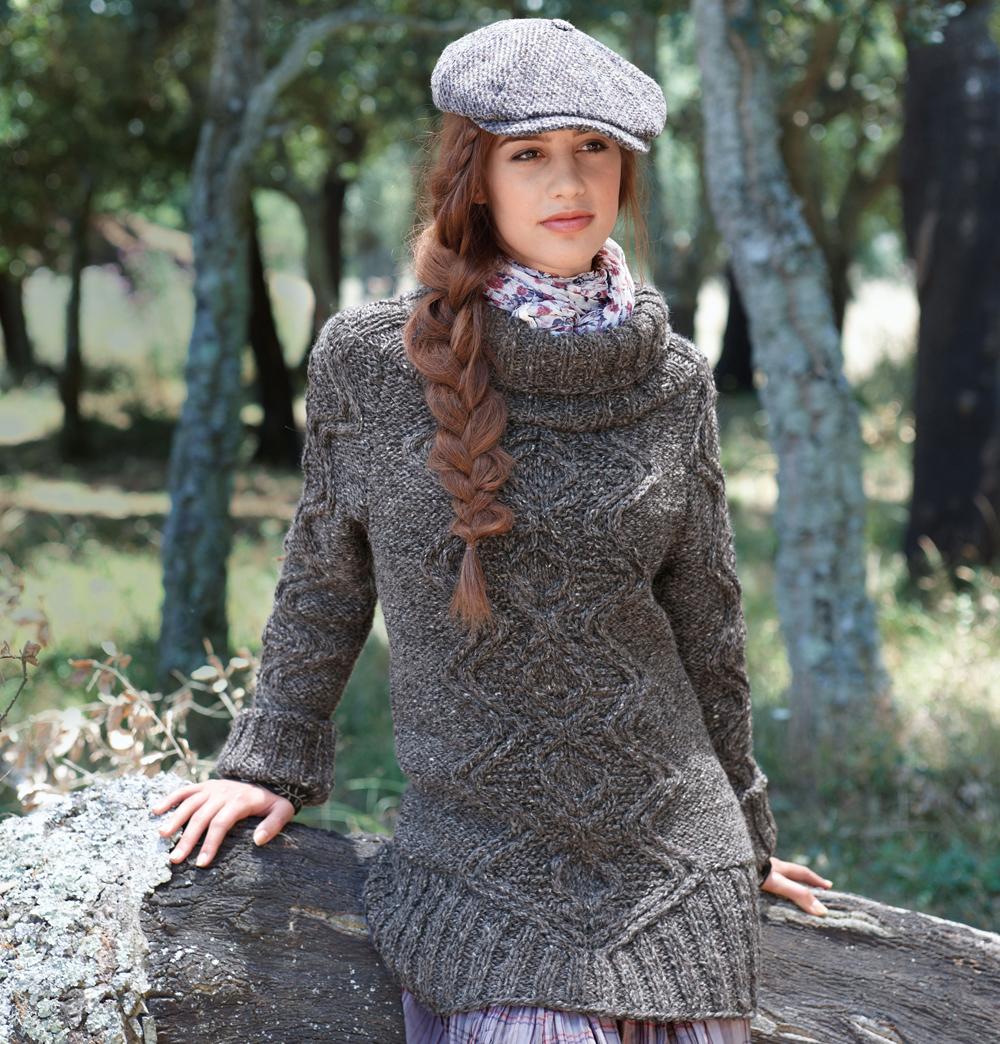 свитер с широкой горловиной схема вязания спицами вяжем свитеры