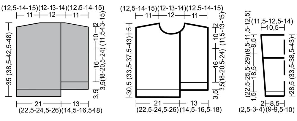 Асимметричный свитер для девочки