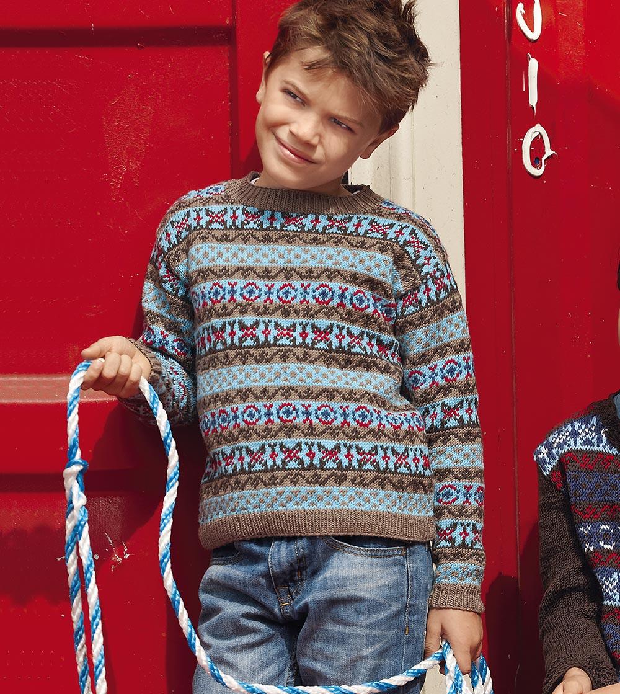 Жаккардовый джемпер для мальчика
