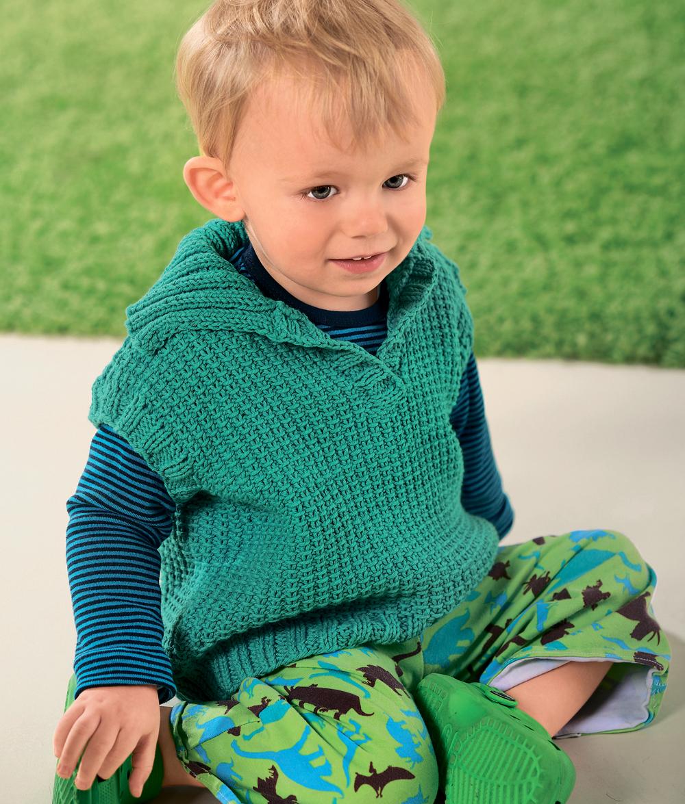 Схема для вязания детский жилет 806
