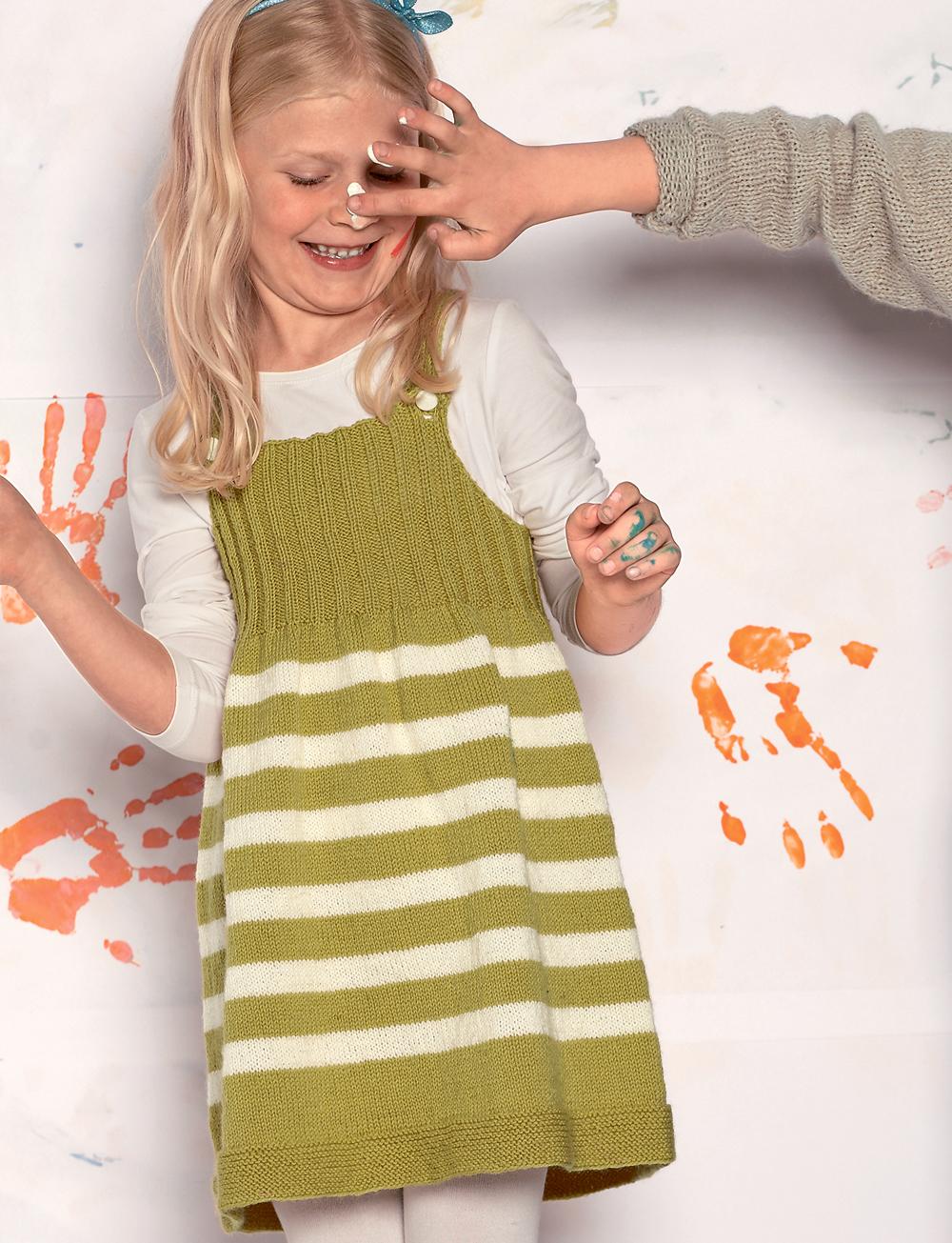 Детский сарафан в полоску