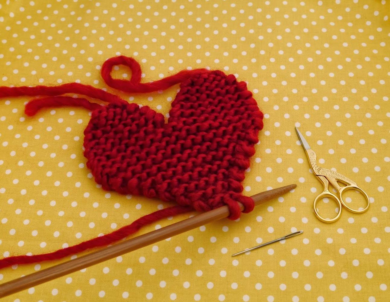 Вязание сердце