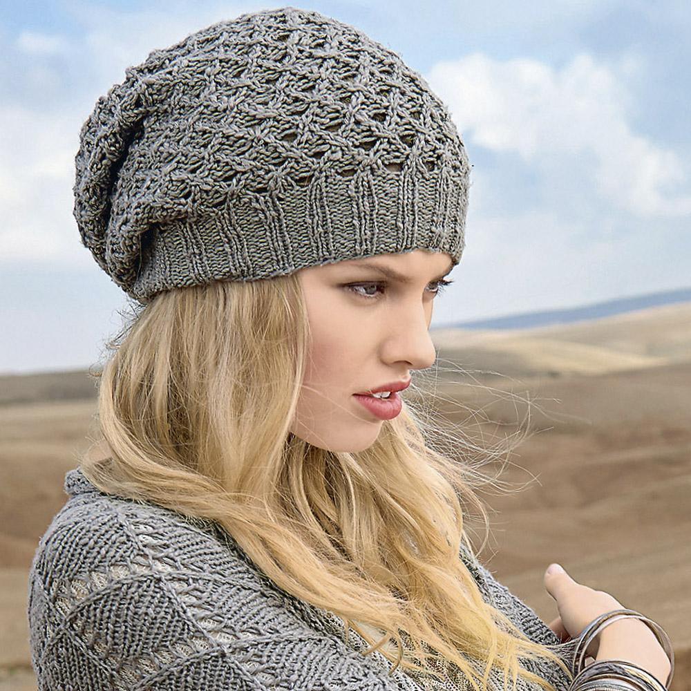 вязаная шапка-чулок спицами схема