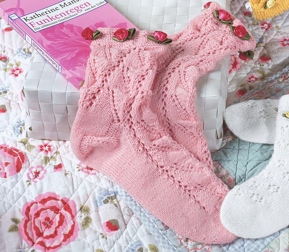 Розовые ажурные носки