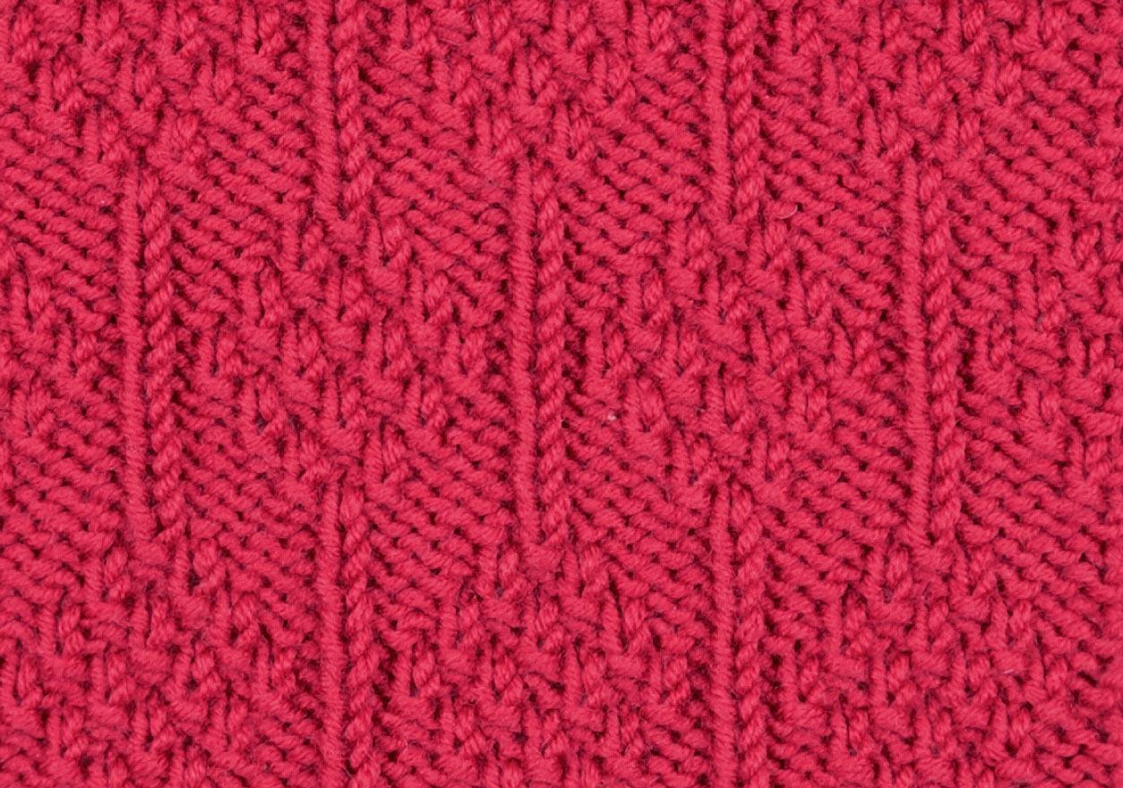 схема вязания узора жемчужные ромбы