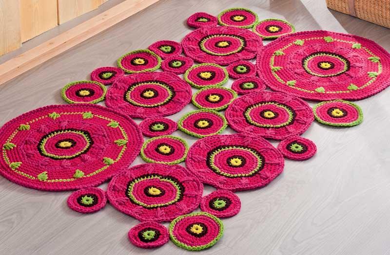 спицы вяжем коврики на пол