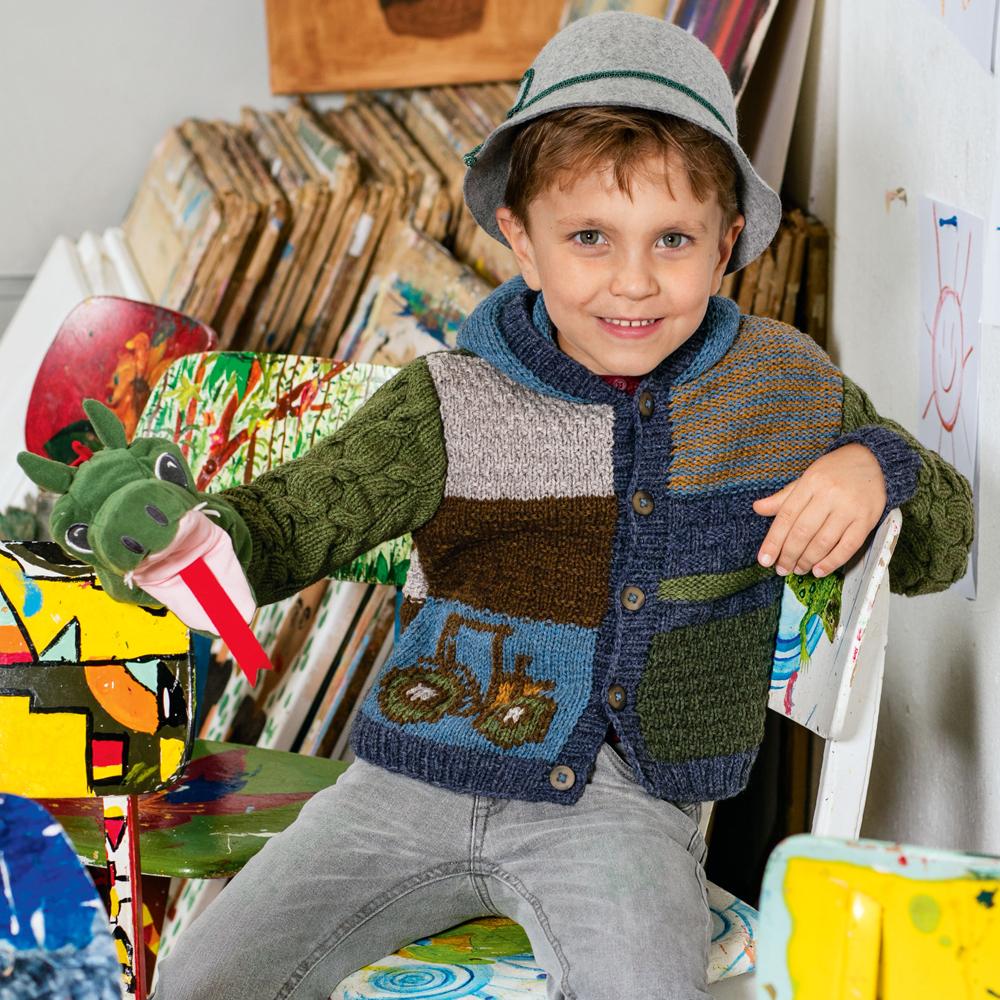 Детская кофта в стиле пэчворк