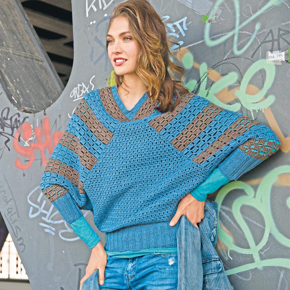 Пуловер с рукавами «летучая мышь»