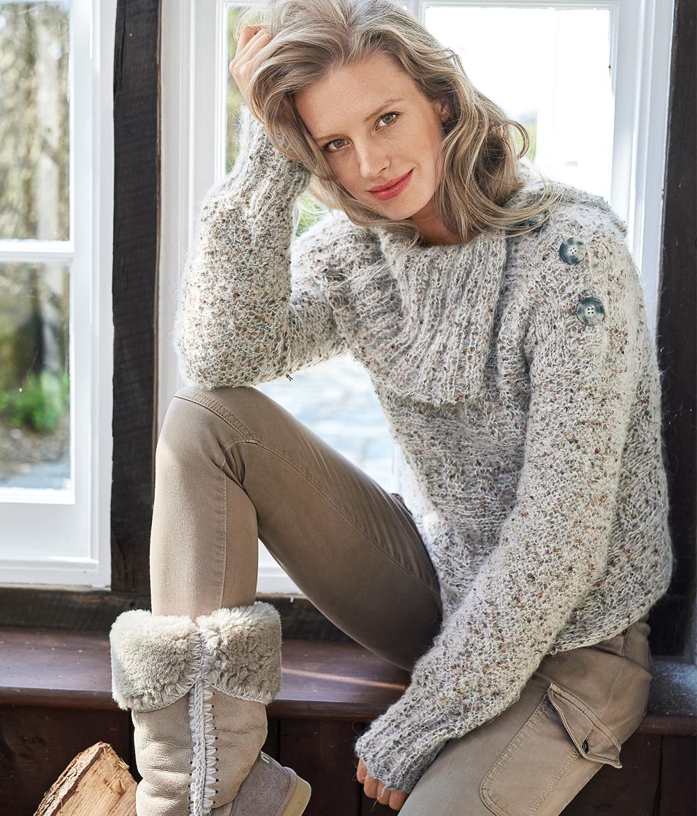 свитер с застежкой на плече схема вязания спицами вяжем свитеры