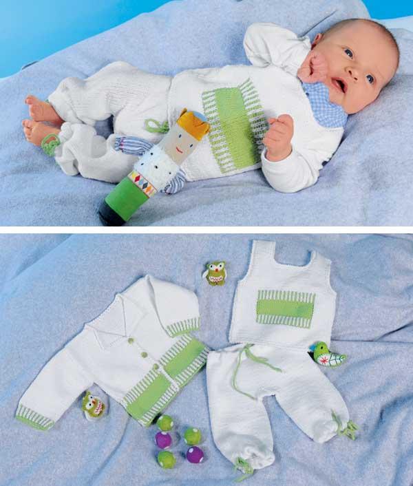 Комплект для новорожденного схема