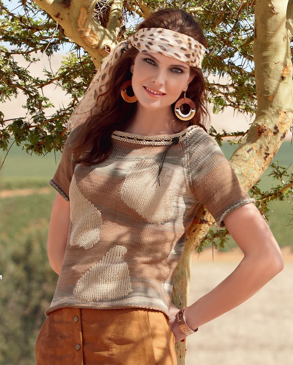 Пуловер с «интарсией»