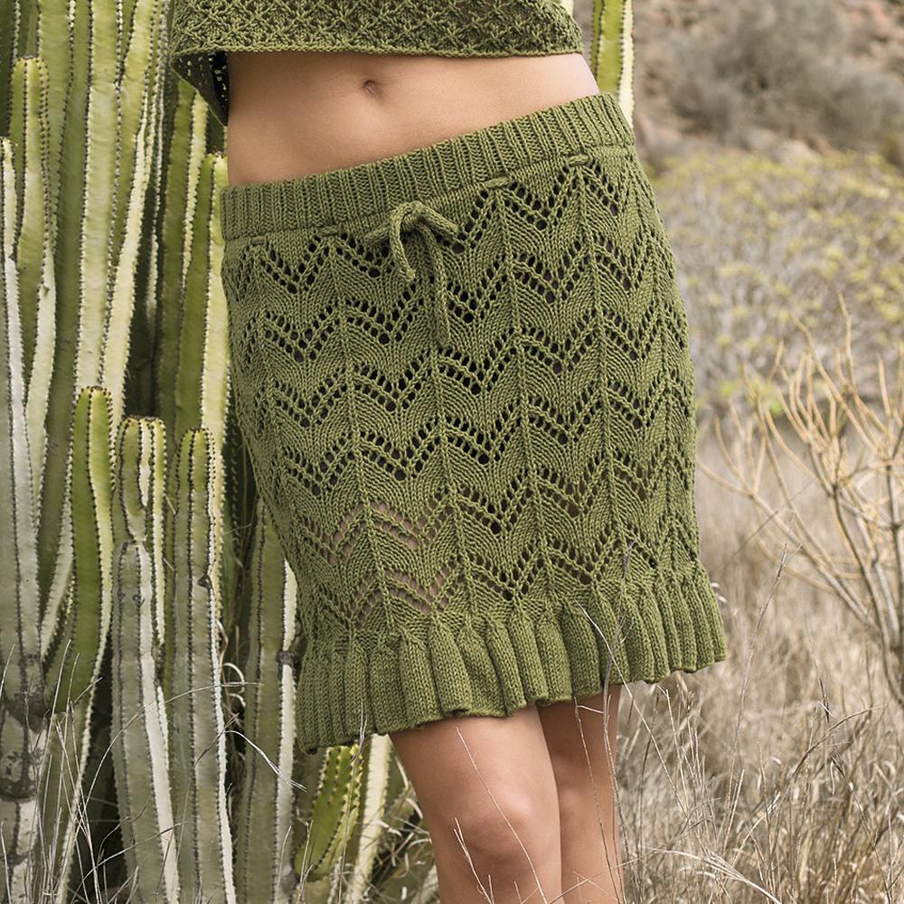 Вязание юбки с воланом