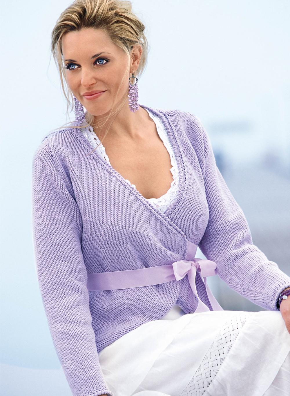 вязанный свитер для девушки косы со схемами