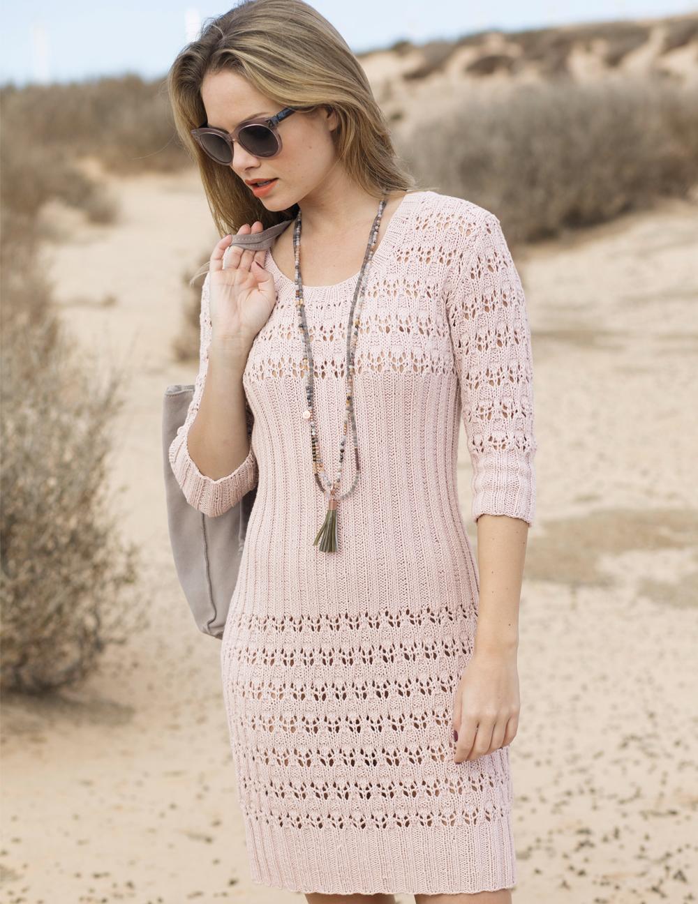 Платье с ажурной резинкой
