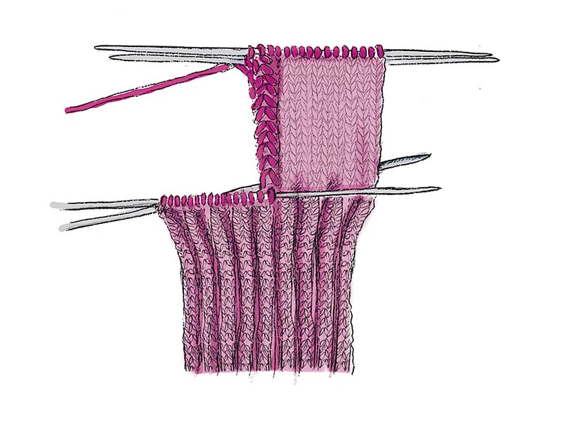 бабушкин способ вязания носков схема вязания спицами вяжем