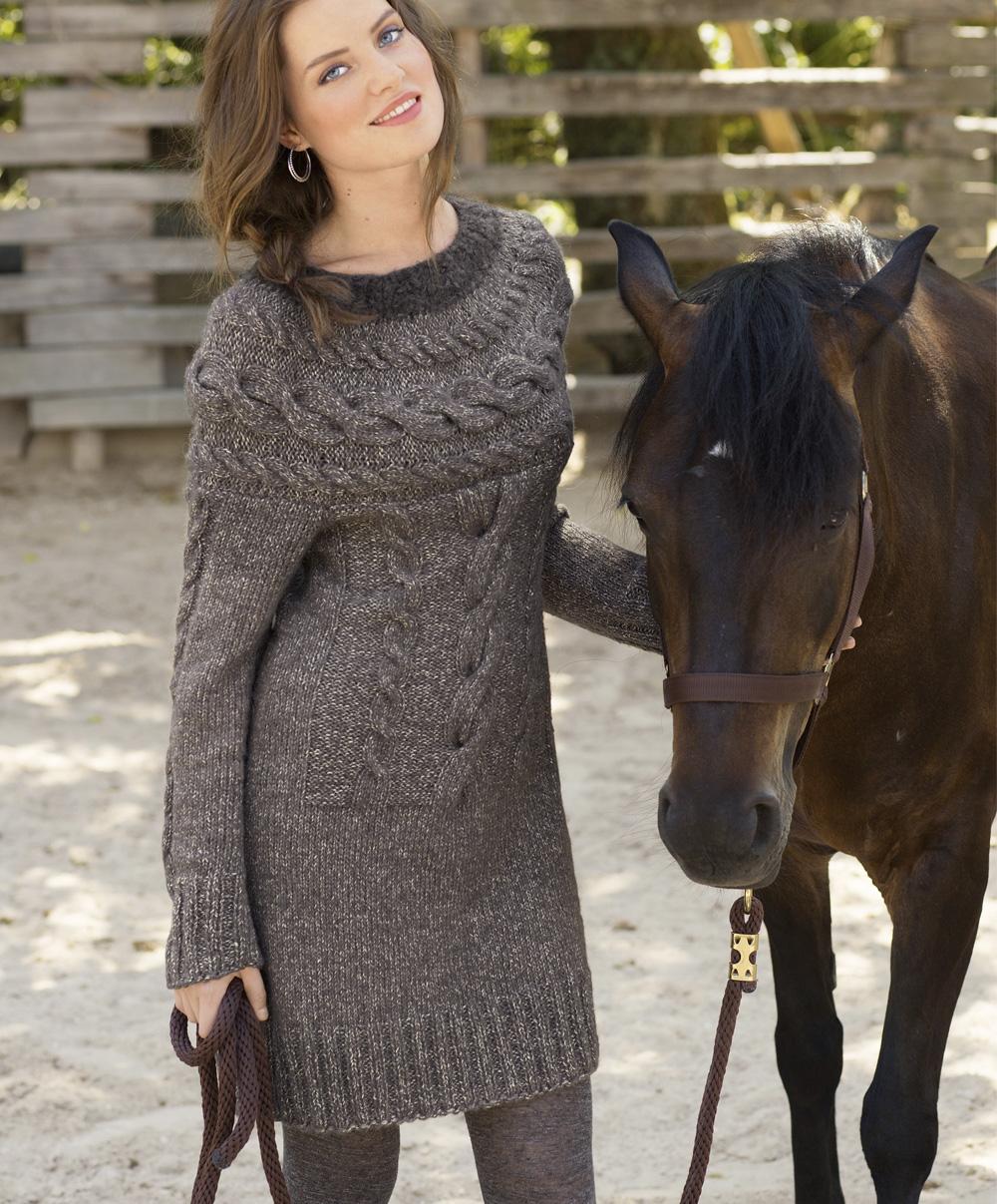 Вязание спицами платье сабрина