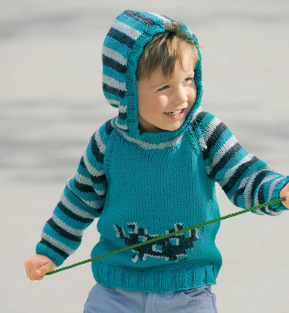 вязание спицами схема капюшона