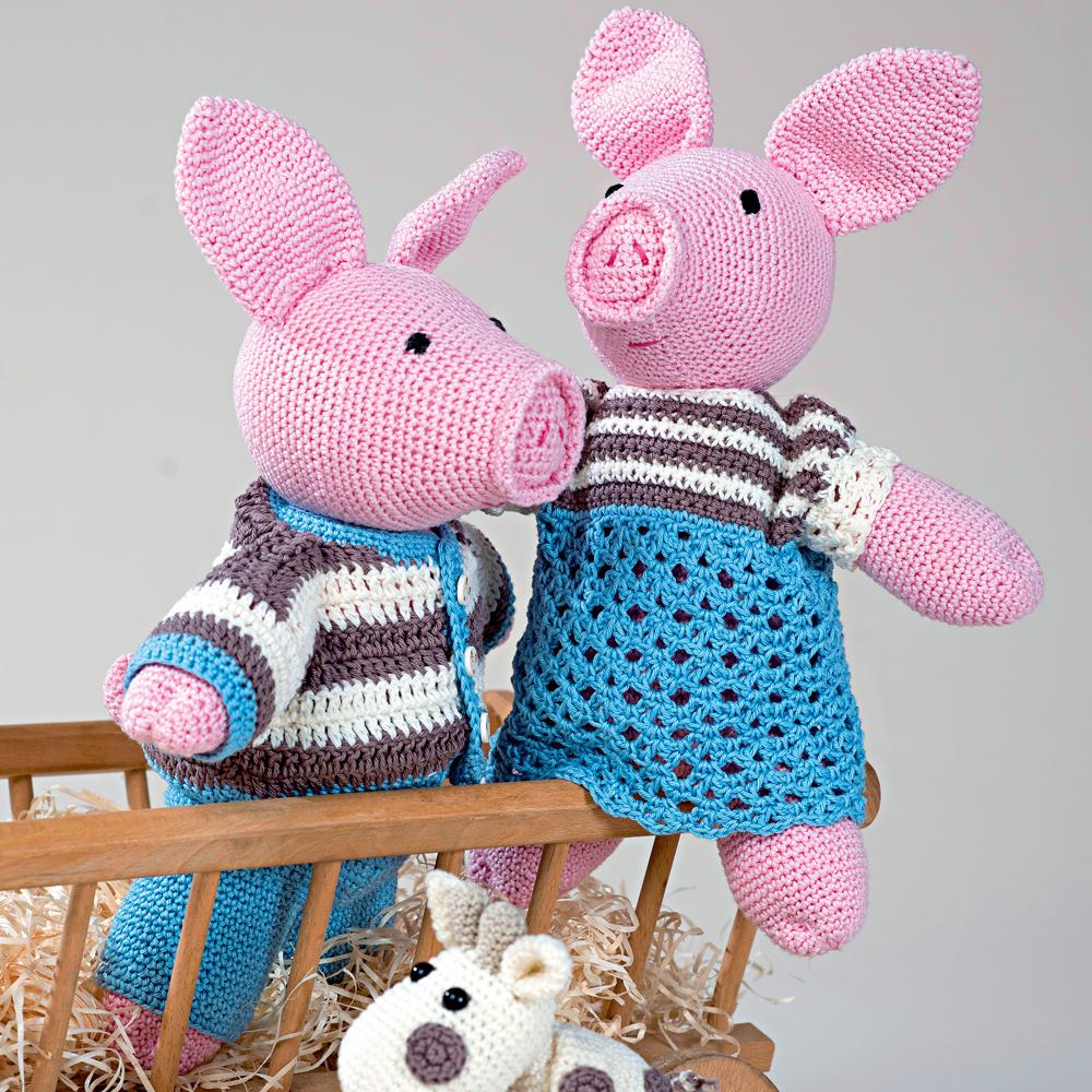 игрушка свинка рози схема вязания крючком вяжем игрушки на