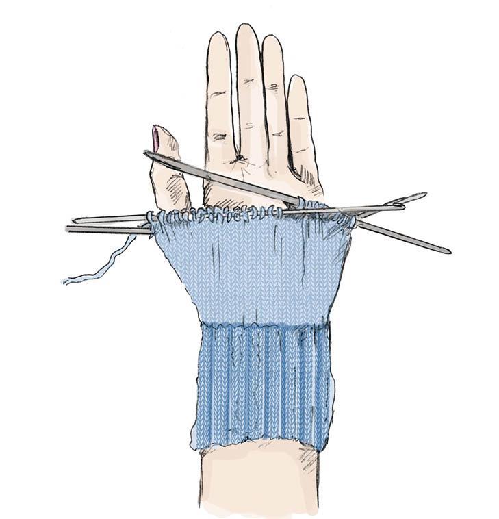 Как вязать большой палец клином 168