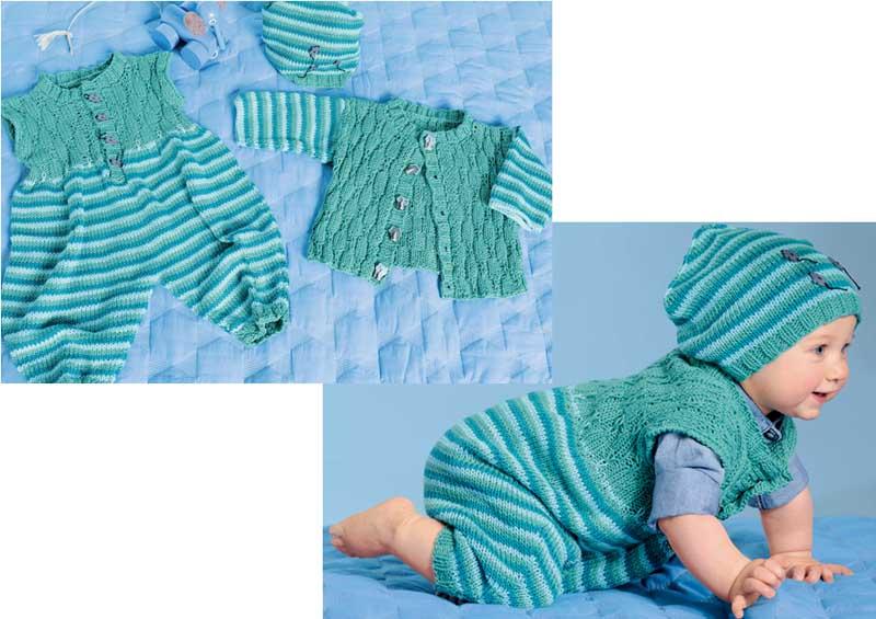 Схемы для вязания спицами новорожденному 120