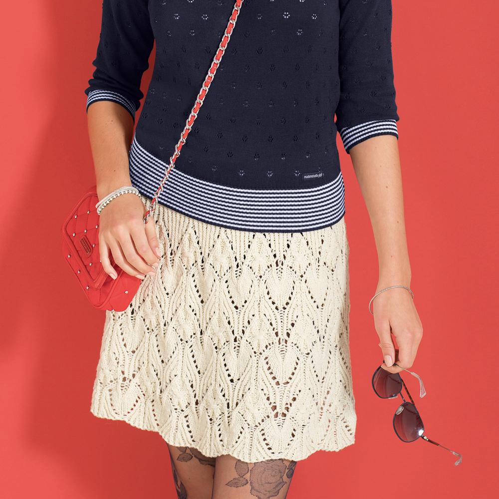 Ажурные юбки спицами со схемами фото 467