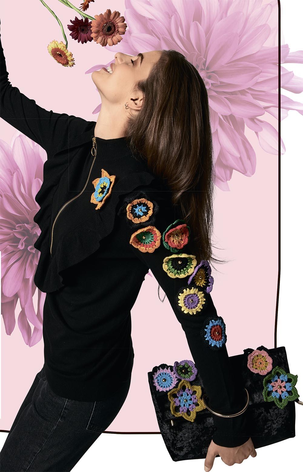 вязаные цветочные мотивы схема вязания крючком вяжем цветы на