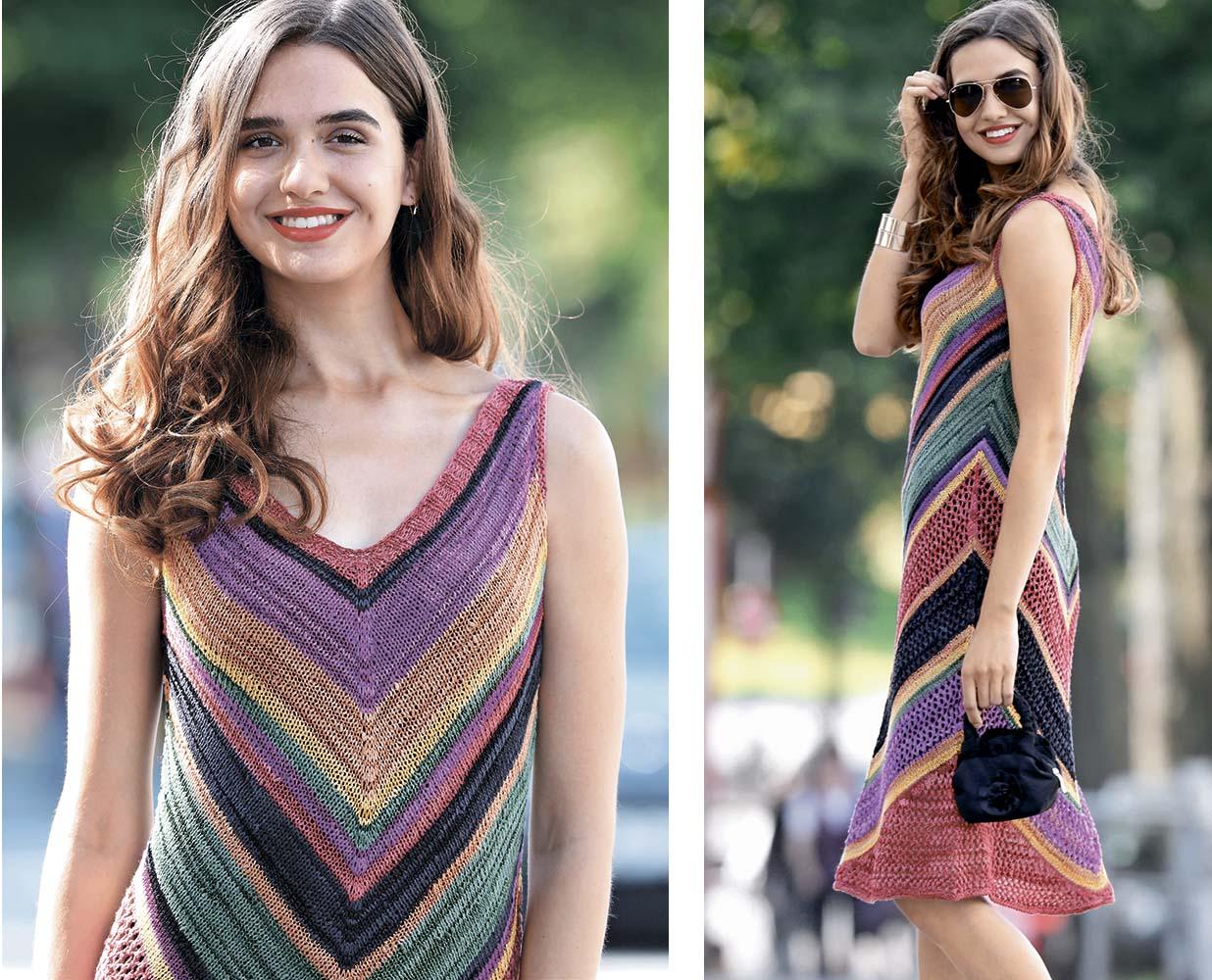 Разноцветное летнее платье