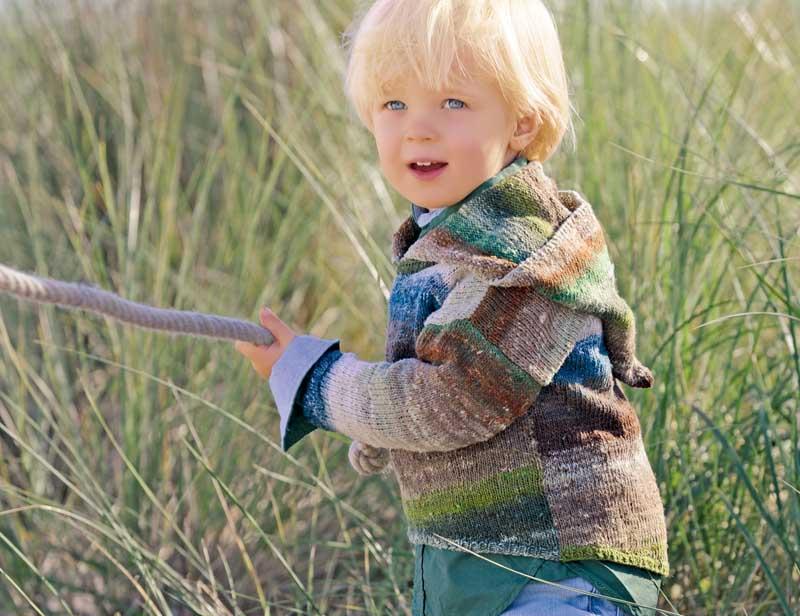 Детский асимметричный пуловер