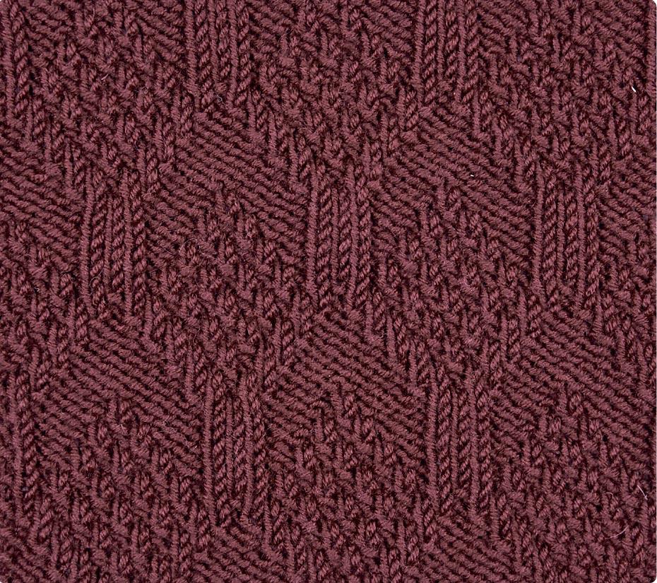 жемчужные ромбы схема вязания спицами вяжем узоры на Verenaru